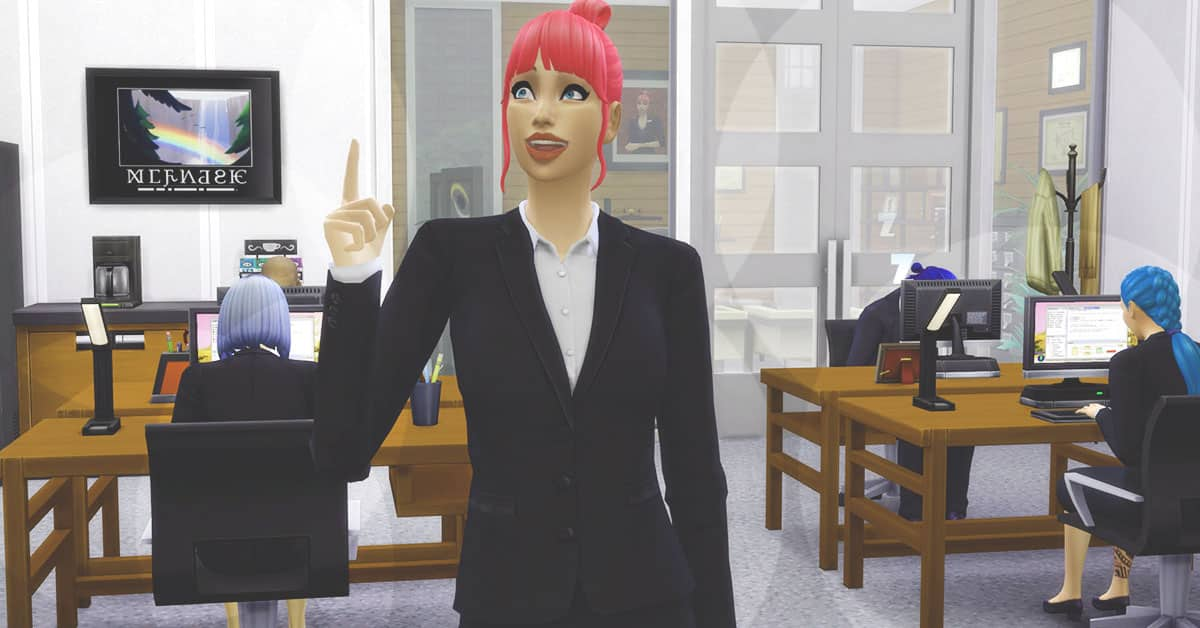 Salaryperson in The Sims 4 Snowy Escape